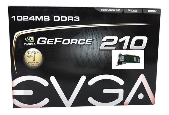 Placa De Vídeo Ge Force Evga 210 1024mb Ddr3 Garantia