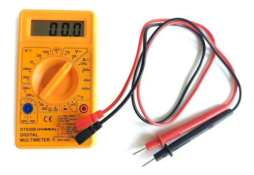 Multímetro Digital 9v Com Cabos - Md-1000 Hammer