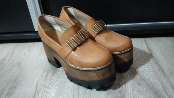 Liquido Zapatos Plataforma N°38 Fluxa 100% Cuero Zuela