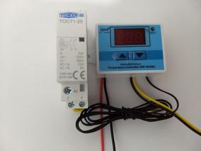 Controlador De Temperatura Digital+ Contator Bipolar 220v