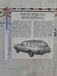 Recorte Jornal Matéria Reportagem Corcel Belina 5 Estrelas
