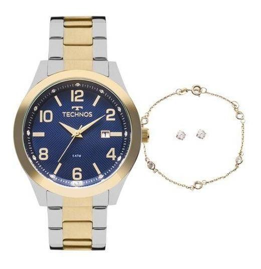Relógio Feminino Technos Dourado 2115kzu/k5