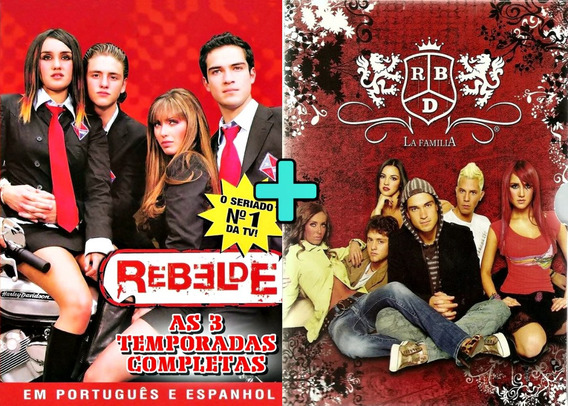 Rbd La Familia + Rebelde As 3 Temporadas Dublado 21 Dvds!!