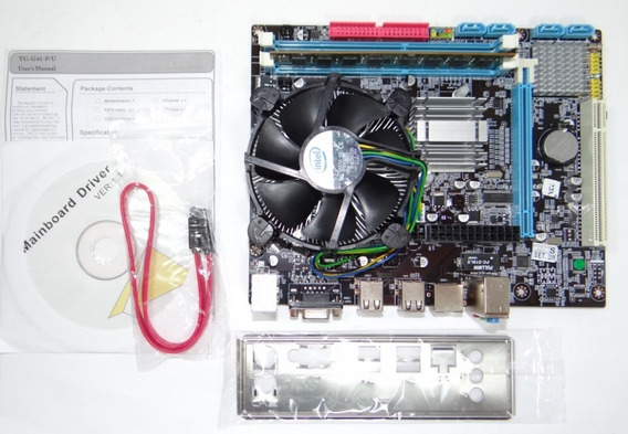 Kit Placa Mãe Ta-mbh41 + Core 2 Duo E8600 + 4gb Ddr3 Espelho