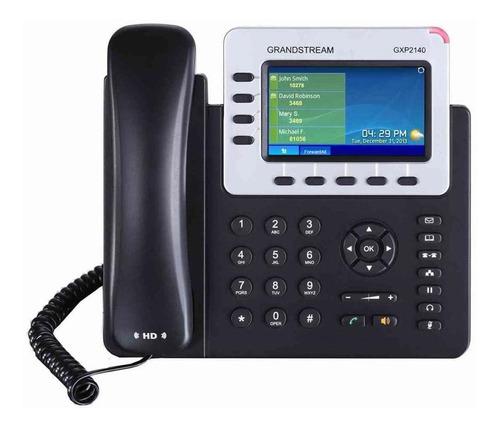 Telefono Ip Grandstream Gxp2140 4 Lineas Sip Gigabite Poe Pantalla Lcd Color Usb Bluetooth