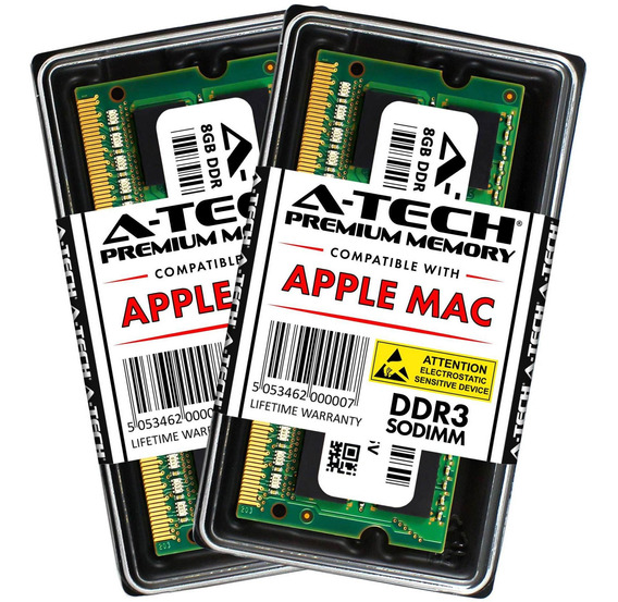Memoria Ram 16gb A-tech Kit (2x 8gb) Ddr3 1600mhz Pc3-12800 204-pin Sodimm Para Apple Macbook Pro (mid 2012) iMac (late