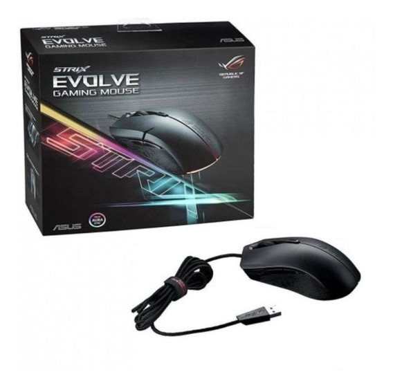 Mouse Gamer Asus Rog Strix Evolve 7200 Dpi Rgb - P302