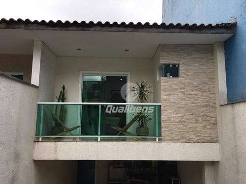 Imagem 1 de 24 de Sobrado Com 3 Dormitórios À Venda, 160 M² Por R$ 650.000,00 - Vila Nossa Senhora Das Vitórias - Mauá/sp - So0104