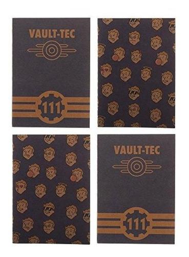 Fallout Vaulttech Juego De 4 Cuadernos De 59 En X 39 En