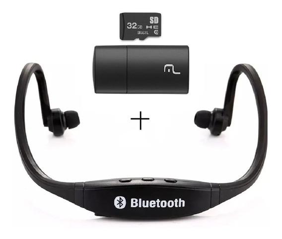 Fone Earphone Sport Com Arco Bt/fm/sd 3 Em 1+ Cartao De 32gb