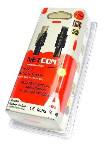 Cable Plug Jack 3.5mm Netcom De Audio Stereo De 10 Metros