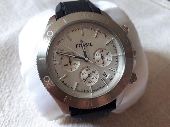 Relógio Original Fossil Prata Com Fundo Branco Fosco