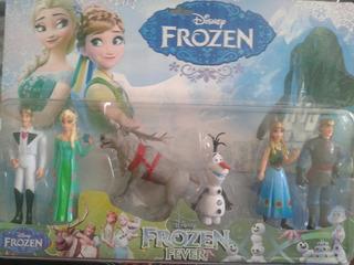 Frozen Playset X6 Figuras Pvc Ideal Tortas 10cm Caballito