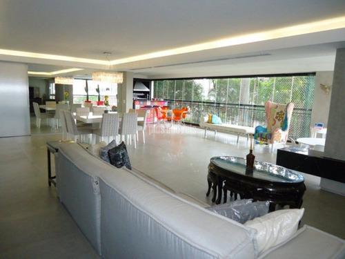 Cinematográfico Apartamento Alto Padrão - 256m² , 3 Suites, 4 Gar - Villa Monteverde Panamby - Pp2780