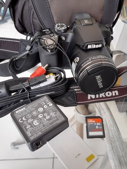 Frete Grátis! Câmera Nikon P510 Com 42x De Zoom + Acessórios