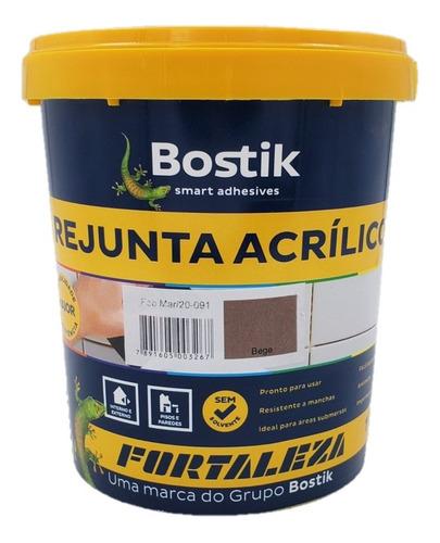 Rejunte Acrílico Bege Piscina / Porcelanato 1kg Fortaleza