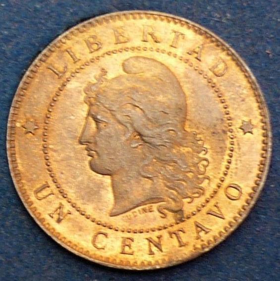 Argentina Un 1 Centavo Patacón 1888 Sin Circular++