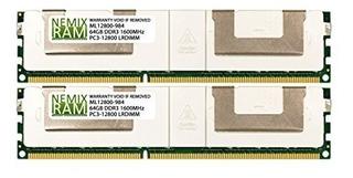 128gb (2x64gb) Ddr3-1600mhz Pc3-12800 Ecc Lrdimm 8rx4 1.5v L