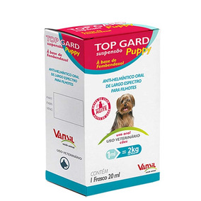 Top Gard Puppy 100ml Vermifugo Cães E Gatos Promoção