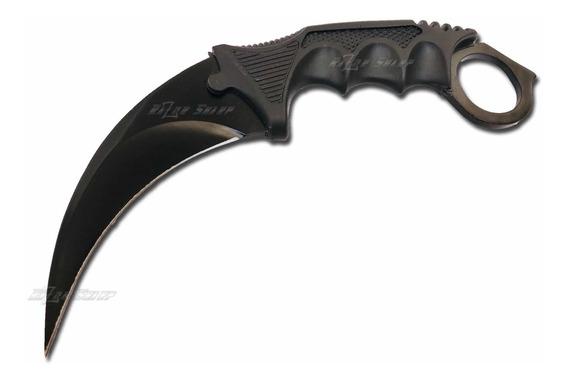 Cuchillo Karambit Csgo Original Negro Funda Counter Strike