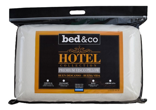 Imagen 1 de 6 de Almohada Inteligente Viscoelastica  Hotel Bed&co 65x39cm