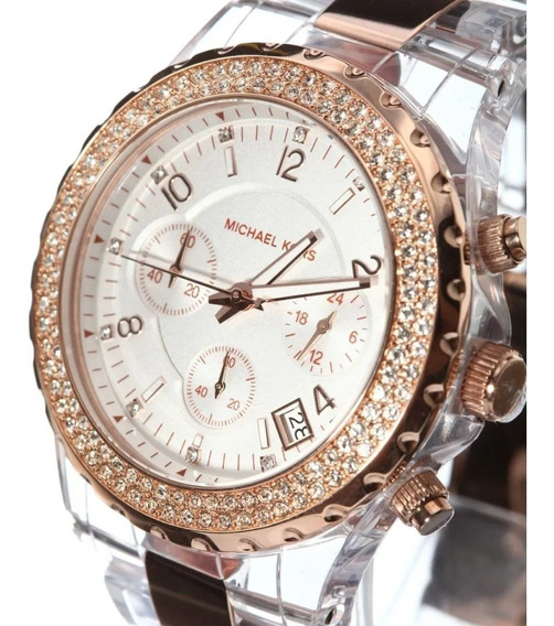Relógio Michael Kors Chron Anal Gold Rosé Mk5323