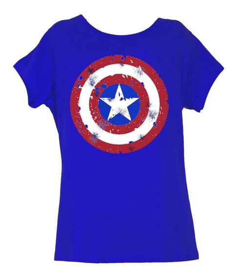 Remera, Marvel, Capitán América Assamble Dama Original
