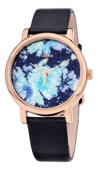 Relógio Feminino Timex Tw2r66400 Pulseira De Couro