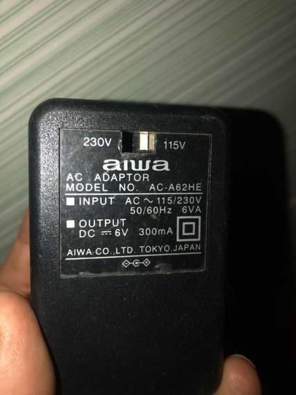 Fonte Transformador Aiwa 110 Ou 220 Volts Saída 6v 300ma