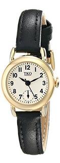 Reloj Tk658bk De Cuero Negro Tko Para Mujer De Pequeña Super