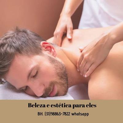 Massagem Relaxante + Depilação Íntima - Para Homens