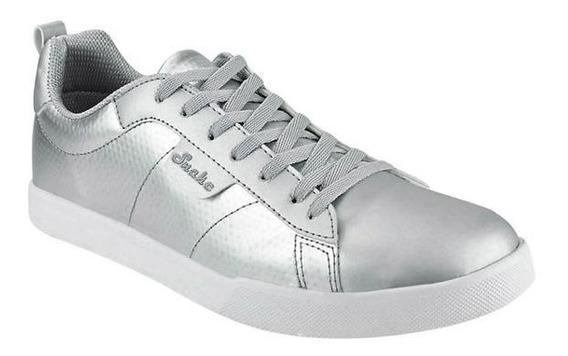 Tenis Sneakers Unisex Plata 009995 Mundo Terra