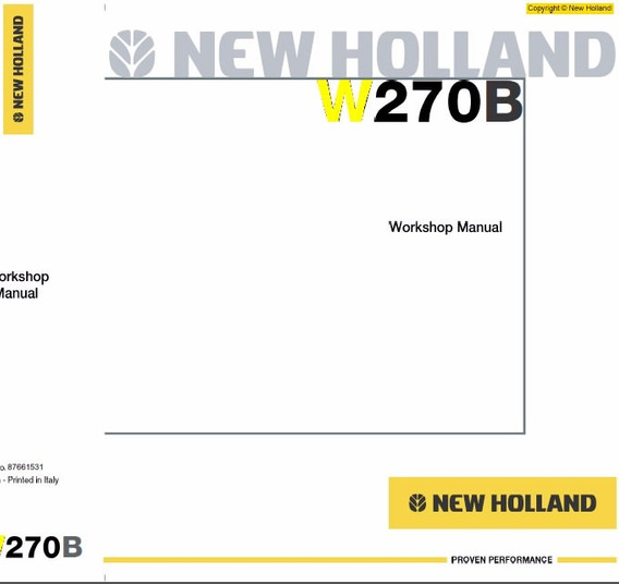Manual De Serviço - New Holland - W270b