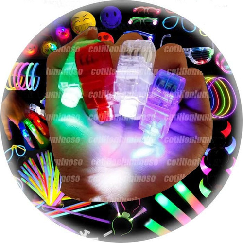 10 Anillo Laser Led Luminoso Para Dedos Cotillon Luminoso
