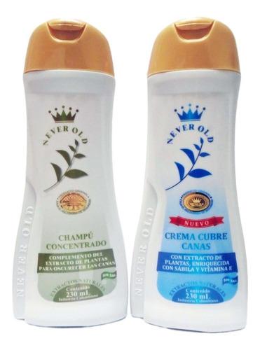 Never Old Shampoo + Tonico Cubre Canas 230ml