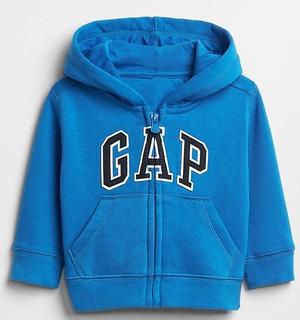 Buso Con Capota Logo Gap Infantil Buso Hoodies Azul