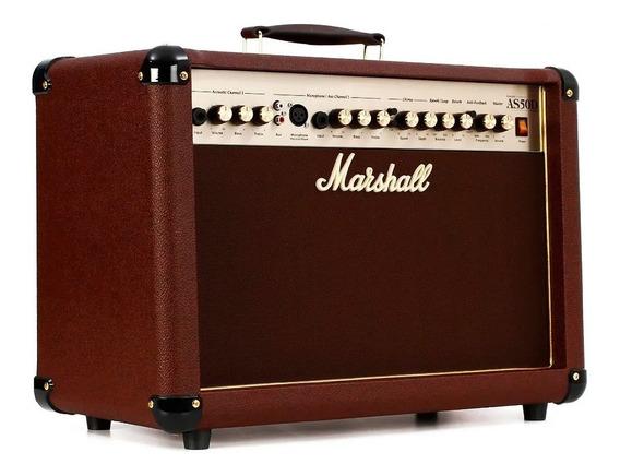 Amplificador Marshall As50d Guitarra Acustica Voces Efectos