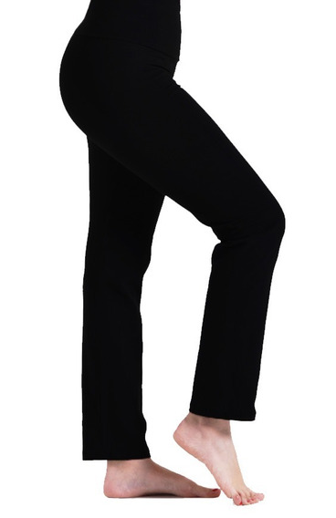 Calza Recta Tiro Alto 100% Lycra Mujer Talle Standar Xs - Xx