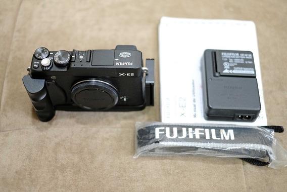 Câmera Fujifilm X-e2 Preta Com Grip / Nf / Manual
