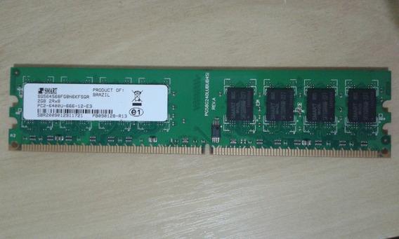 Lote De Memoria Smart Ddr2 2 Gb Contendo 10 Peças