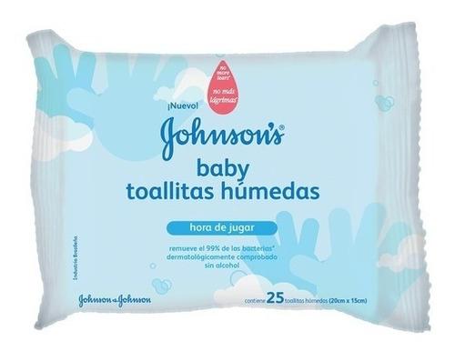 Toallitas Humedas Bebe Johnsons Baby Celeste De 25 X 12 Paq