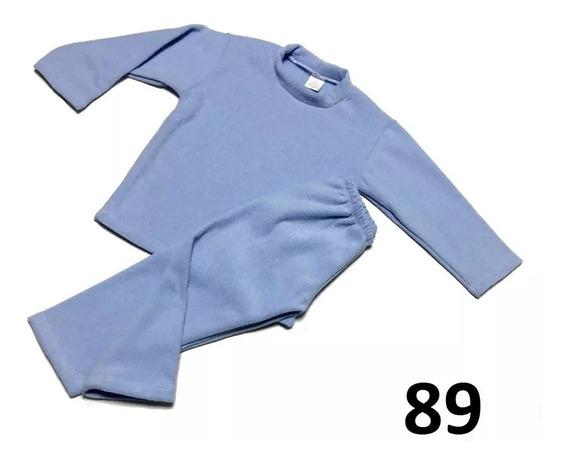Frio Infantil Soft Azul Claro Calça + Blusa 1 2 3 4 Anos