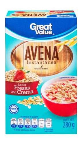 Avena Instantánea Great Value Sabor Fresas Con Crema 280 G