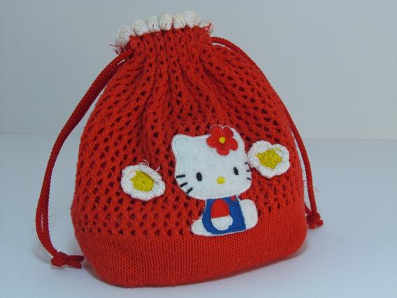 Cartera Pequeña De Tela Roja De Hello Kitty Sanrio Para Niña