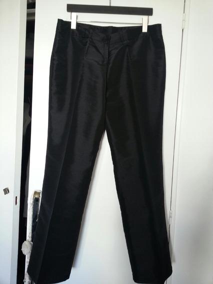 Pantalon Tipo Seda T 54 Negro Casi Sin Uso