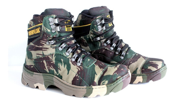 Bota Caterpillar Paintball Camuflado + Palmilha Gel Brinde