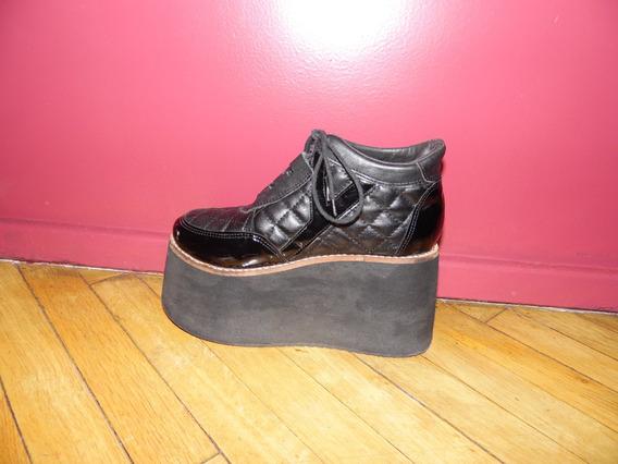 Zapatos Cerrados Plataforma Negros Acordonados Americanino