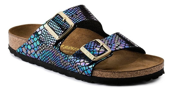 Birkenstock Arizona Birko-flor Shiny Snake Black Multicolor