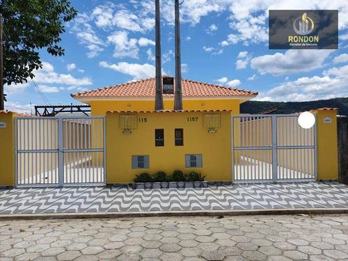 Casa Com 2 Dormitórios À Venda, 63 M² Por R$ 185.000 - Suarão - Itanhaém/sp - Ca1175