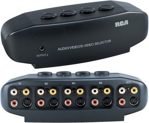 Selector Switch Video Rca S-video 4 En 1 Tv Direct Deco